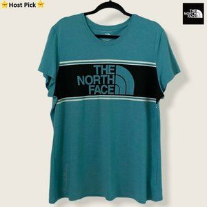 THE NORTH FACE SS Tri Color Logo T-Shirt Teal -XXL